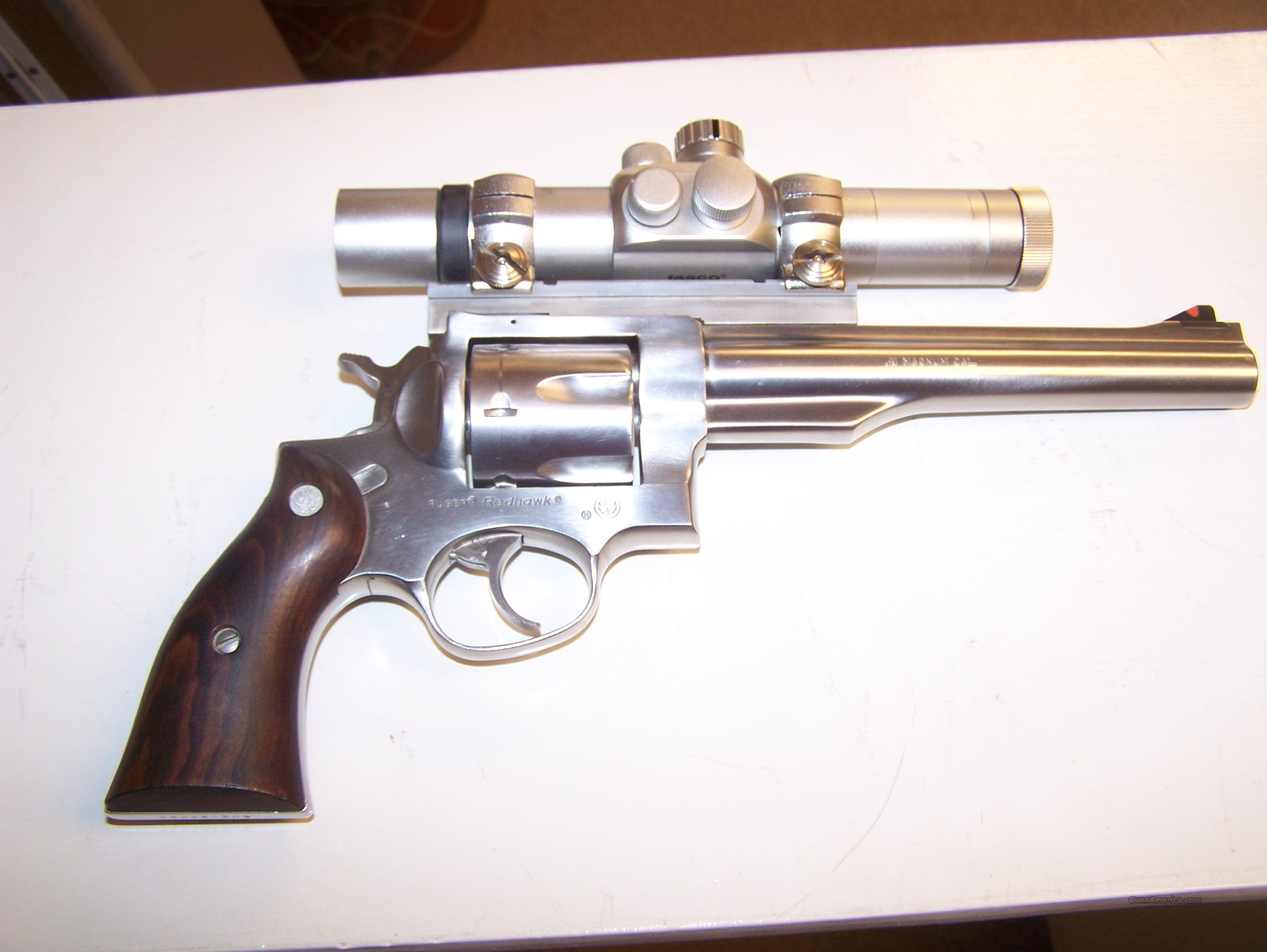 Ruger Redhawk .41 Magnum Stainless Steel with scope  Guns > Pistols > Ruger Double Action Revolver > Redhawk Type