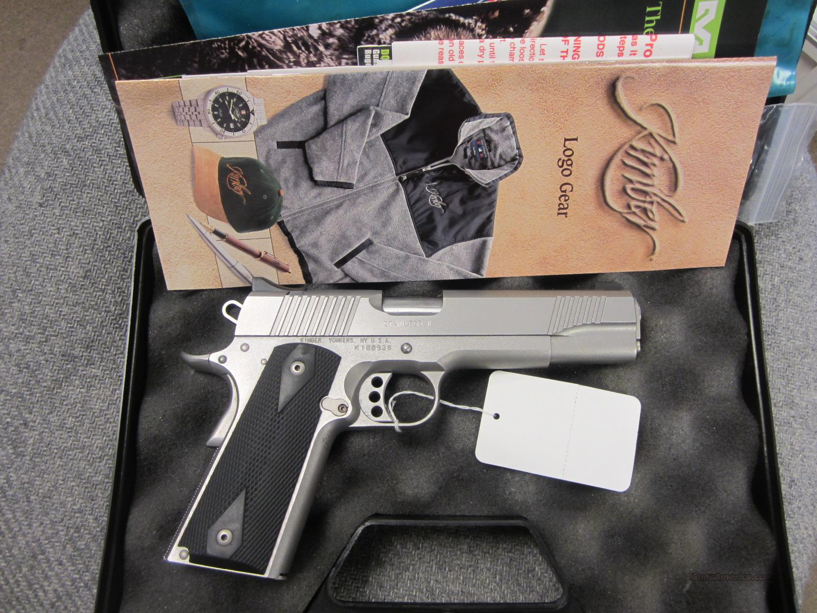 Kimber Stainless II with box and papers  Guns > Pistols > Kimber of America Pistols