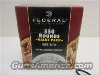 FEDERAL 550 VALUE PACK 22LR HP   Non-Guns > Ammunition