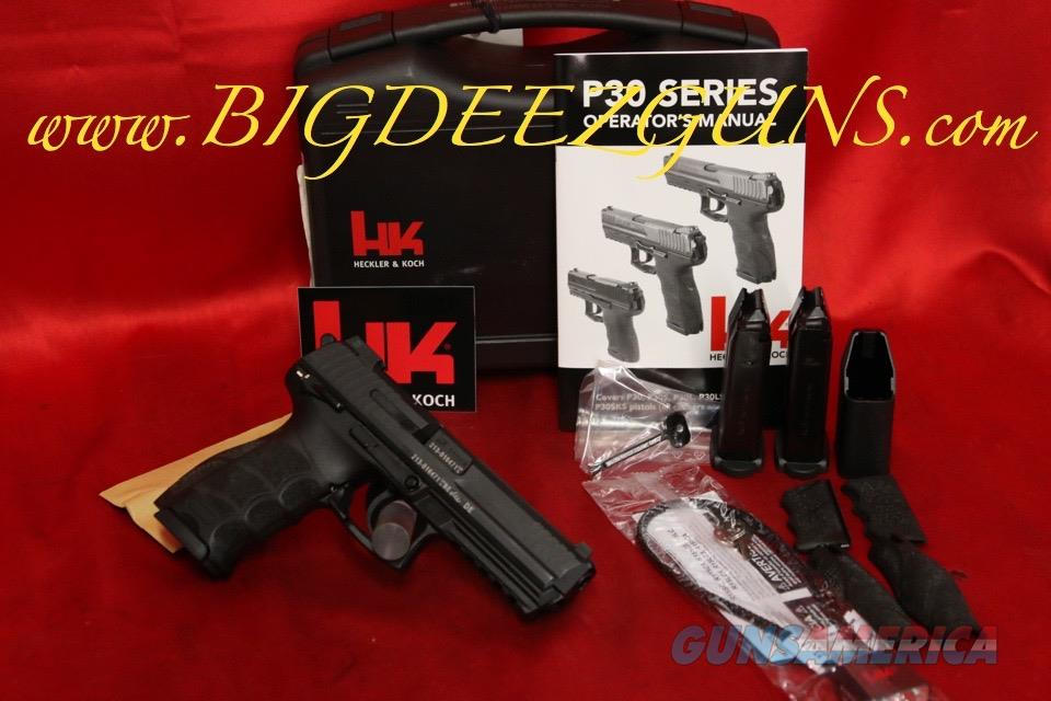 Heckler Koch HK P30LS P30L P30 LONG SLIDE V3S 9MM DA SA WITH SAFETY 3 15 RD MAGS NIGHT SIGHTS   Guns > Pistols > Heckler & Koch Pistols > Polymer Frame