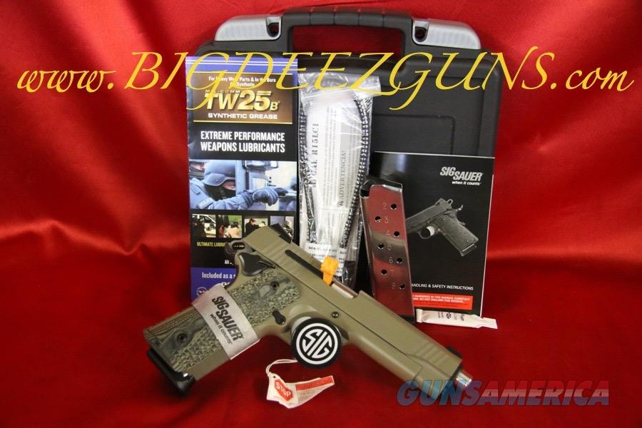 Sig Sauer 1911 TRADITIONAL SCORPION ROUND TOP 1911T-45-SCPN .45ACP FDE  Guns > Pistols > Sig - Sauer/Sigarms Pistols > 1911