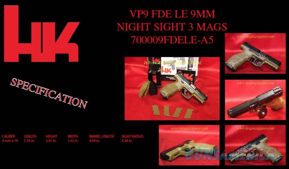 HK VP9 FDE LE 9mm NIGHT SIGHT 3 MAG Heckler Koch 9  Guns > Pistols > Heckler & Koch Pistols > Polymer Frame