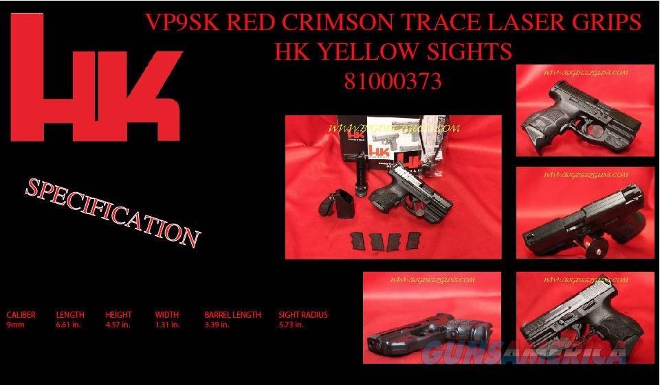 HK VP9SK 9mm RED CRIMSON TRACE LASER 81000373 Hk 9  Guns > Pistols > Heckler & Koch Pistols > Polymer Frame