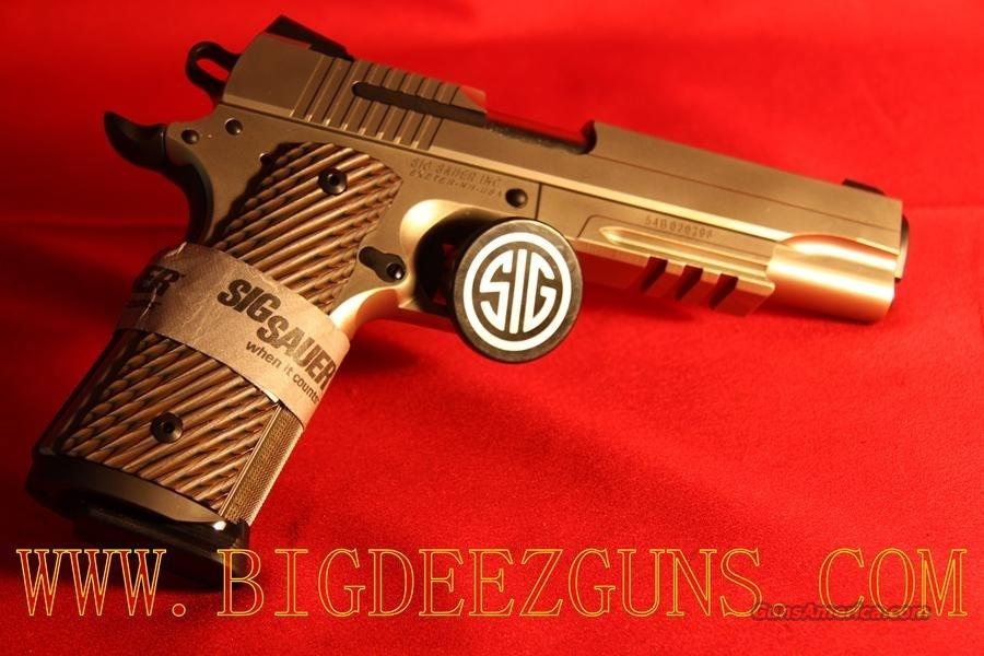Sig Sauer 1911 NICKEL RAIL .45ACP 1911R-45-NI SAO NEW RELEASE MUST HAVE  Guns > Pistols > Sig - Sauer/Sigarms Pistols > 1911