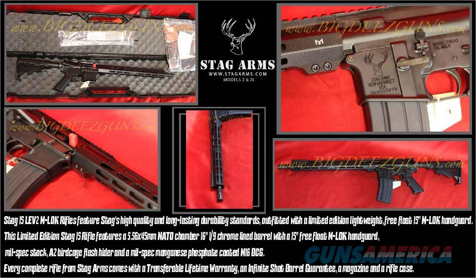 "Stag Arms Stag 15 LEV2 LE V2 M-LOK 16"" Barrel AR 15 556 NATO Hard Case FREE SHIPPING No CC Fees  Guns > Rifles > Stag Arms > Complete Rifles"