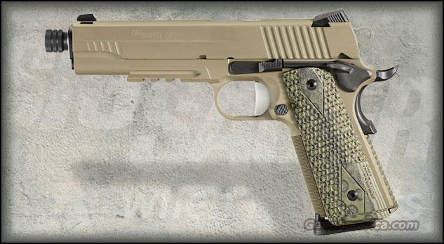 Sig Sauer 1911R-45-SCPN-TB 1911 R Scorpion Pistol .45 ACP 5in 8rd FDE THREADED BARREL NEW IN BOX FREE SHIPPING  Guns > Pistols > Sig - Sauer/Sigarms Pistols > 1911