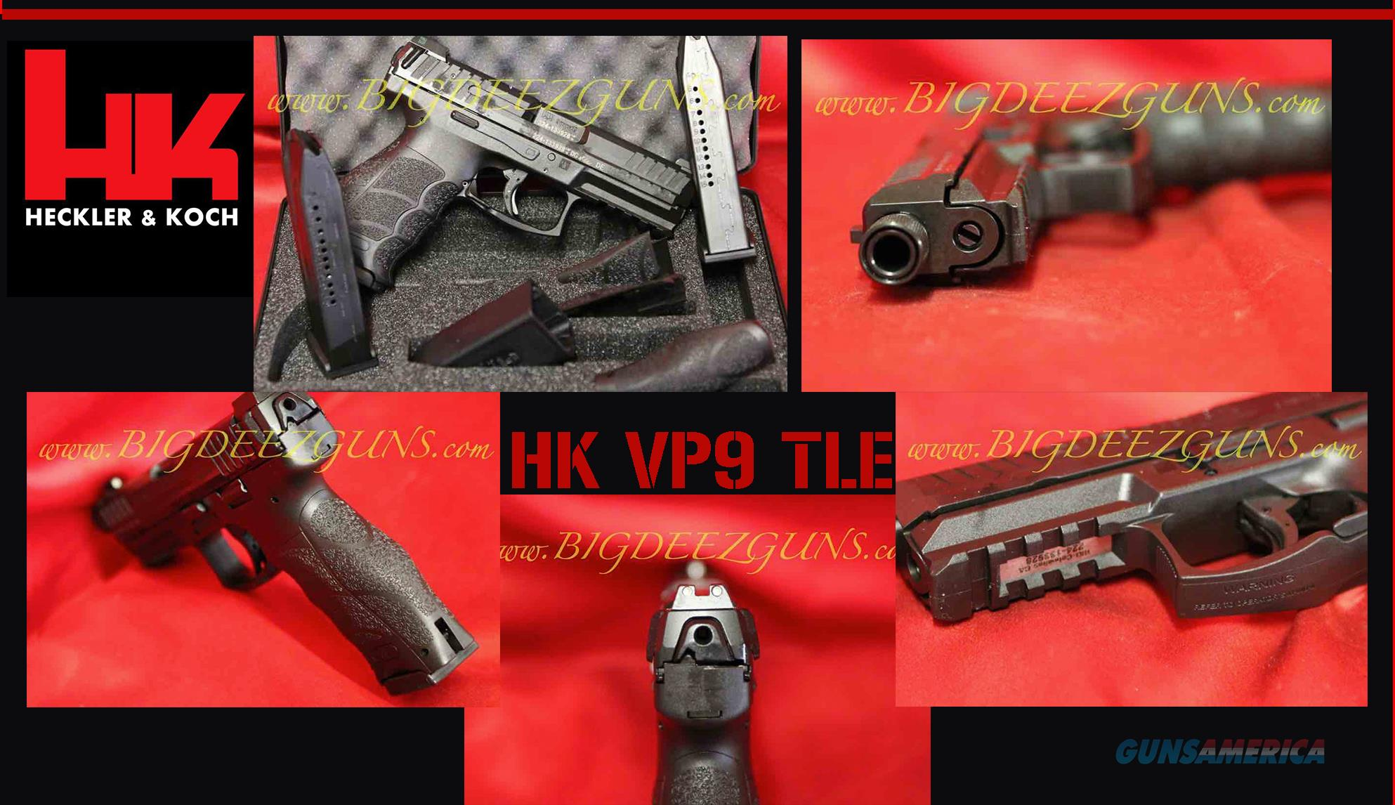 Hk H&K Heckler Koch VP9 TACTICAL THREADED BARREL LE NIGHT SIGHT 9mm 15 round M700009TLE-A5 3 mags  Guns > Pistols > Heckler & Koch Pistols > Polymer Frame