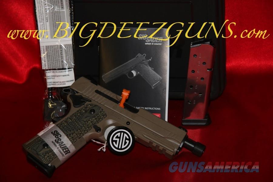 Sig Sauer 1911 CARRY SCORPION THREADED BARREL 1911CAR-45-SCPN-TB 45ACP  Guns > Pistols > Sig - Sauer/Sigarms Pistols > 1911
