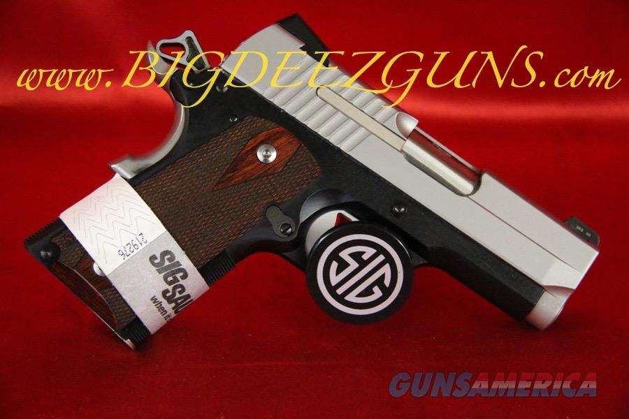 Sig Sauer 1911 ULTRA TWO-TONE ULTRA COMPACT 1911U-45-TSS .45ACP  Guns > Pistols > Sig - Sauer/Sigarms Pistols > 1911