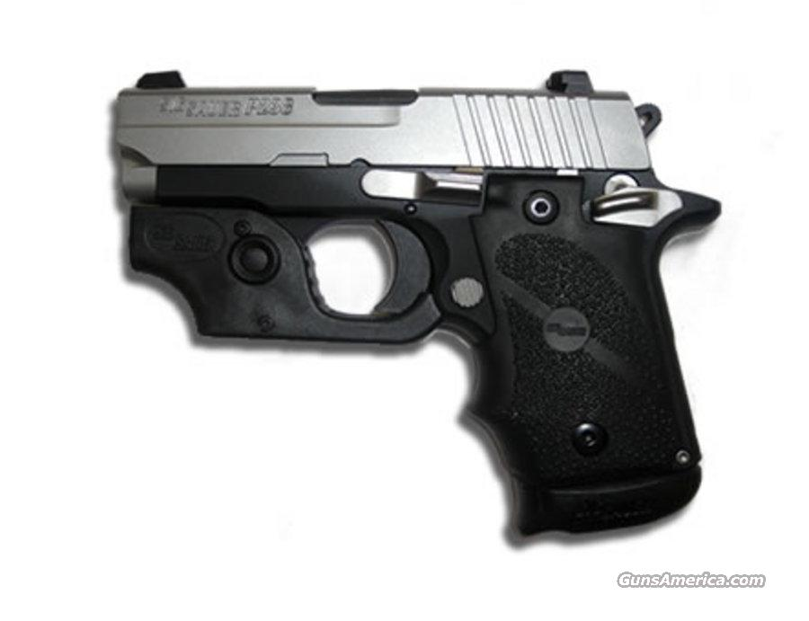 Sig Sauer P238 Ergo Rubber Finger Groove Grip W LASER and EXT MAG 7 + 1  NEW IN BOX FREE SHIPPING  Guns > Pistols > Sig - Sauer/Sigarms Pistols > P238