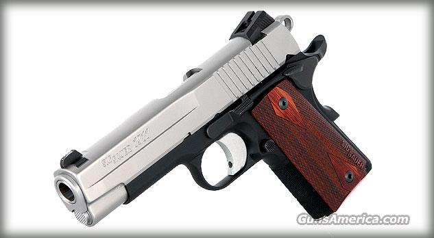Sig Sauer 1911CO-45-TSS-RCS TWO TONE 1911 RCS Compact Pistol .45 ACP 4.25in 7rd NEW IN BOX FREE SHIPPING  Guns > Pistols > Sig - Sauer/Sigarms Pistols > 1911