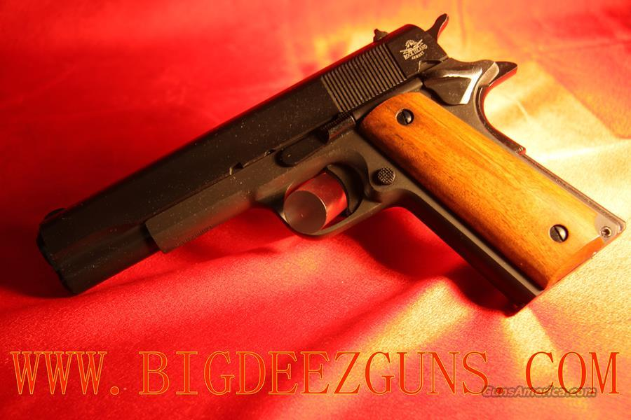 Rock Island Armory 1911 FULL SIZE WOOD GRIPS PARKERIZED LIKE US ARMY COLT 9MM 51615  Guns > Pistols > Armscor Pistols