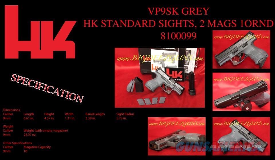 Heckler Koch HK VP9SK GREY 9mm 2 Mags 81000099  Guns > Pistols > Heckler & Koch Pistols > Polymer Frame