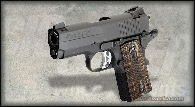 SIG SAUER 1911 ULTRA NITRON W CUSTOM BLACKWOOD GRIPS FREE SHIPPING   Guns > Pistols > Sig - Sauer/Sigarms Pistols > 1911