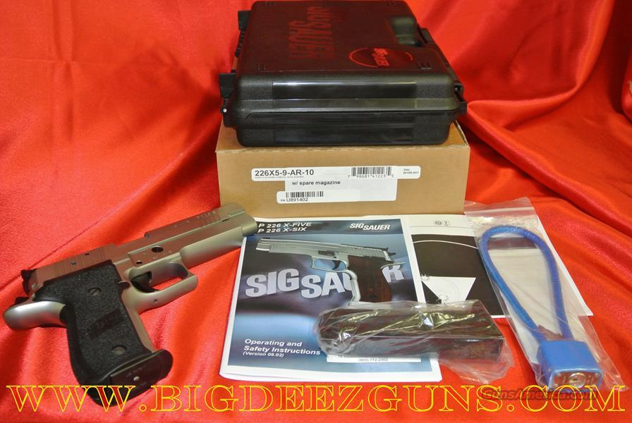 SIG SAUER MASTERSHOP SERIES P 226 X-FIVE X 5 AR ALL AROUND 9 MM 10 + 1 226X5-9-AR-10  Guns > Pistols > Sig - Sauer/Sigarms Pistols > P226