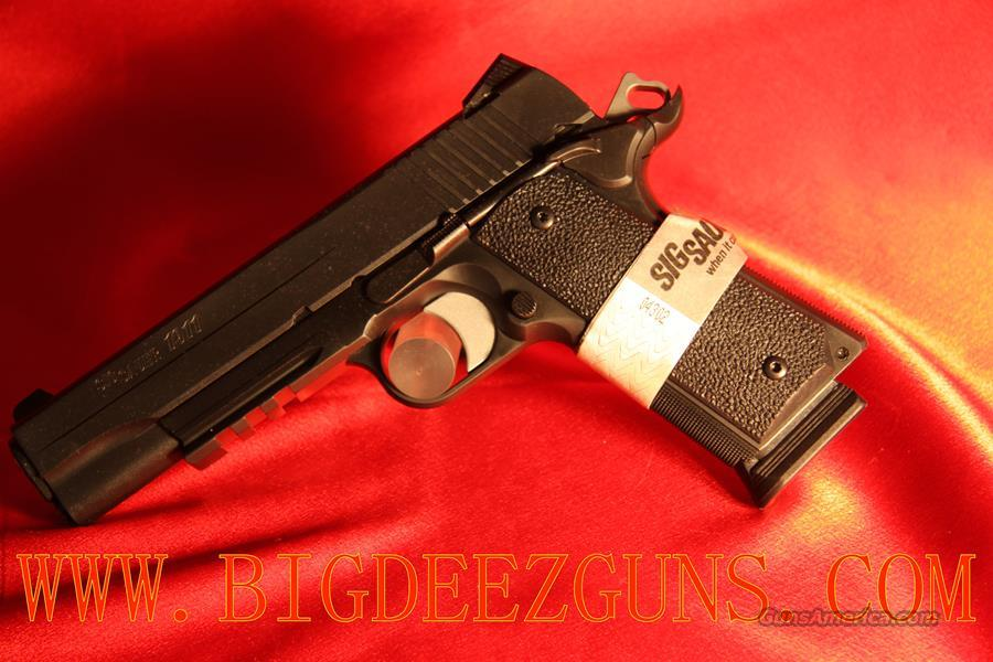 Sig Sauer 1911 RAILED TACPAC 8 ROUND CAPACITY .45ACP 1911R-45-TACPAC TACTICAL PACKAGE RAILED 1911   Guns > Pistols > Sig - Sauer/Sigarms Pistols > 1911