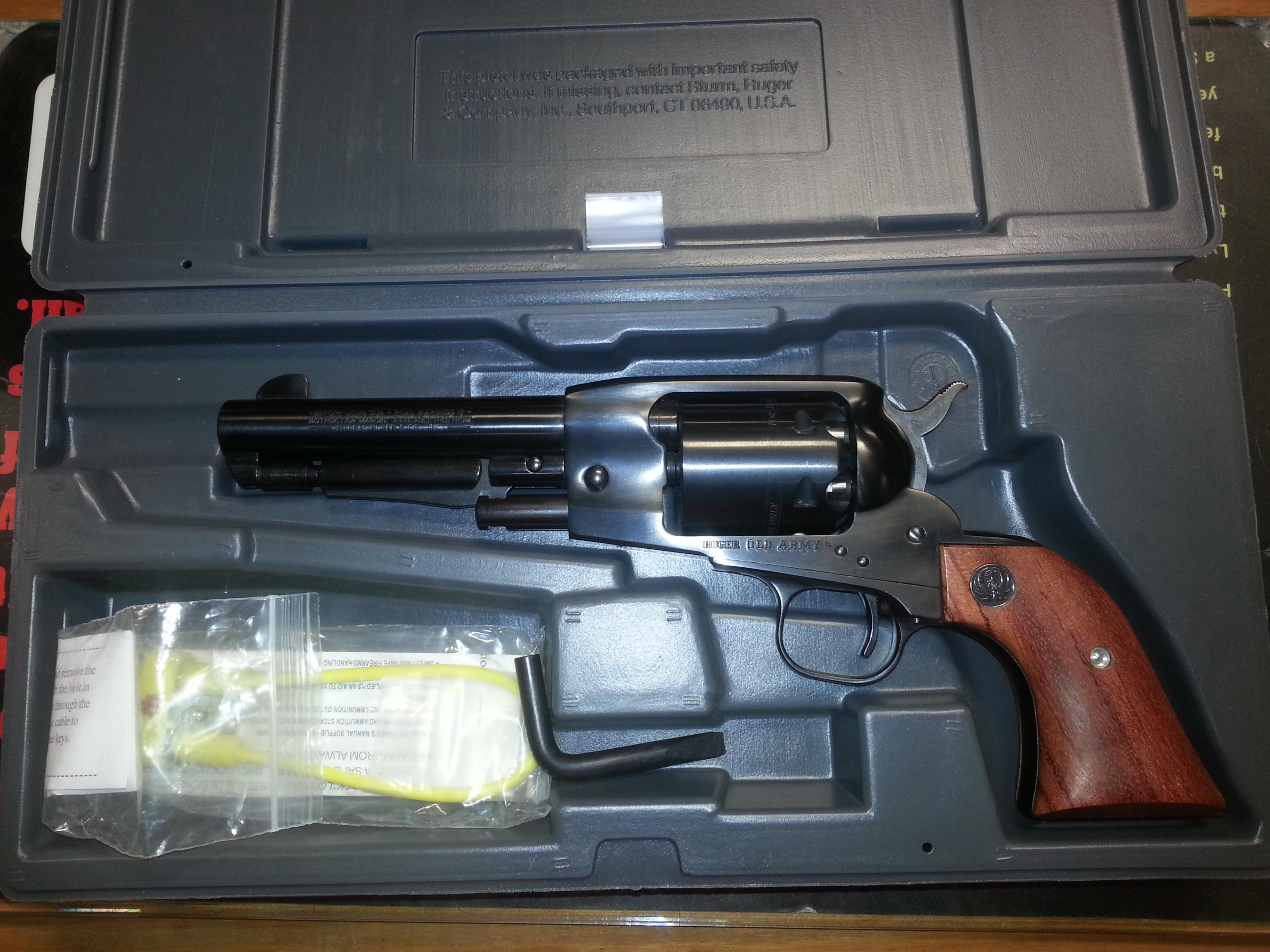 Ruger Old Army New In Box  Guns > Pistols > Ruger Cap & Ball Revolvers