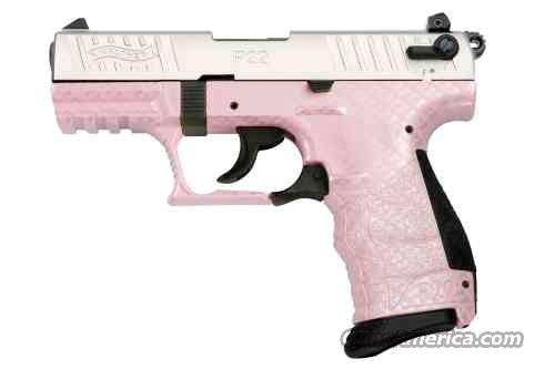 Walther P22 Pink Carbon Fiber Nickle Limited Production Lipseys Exclusive   Guns > Pistols > Walther Pistols > Post WWII > P22
