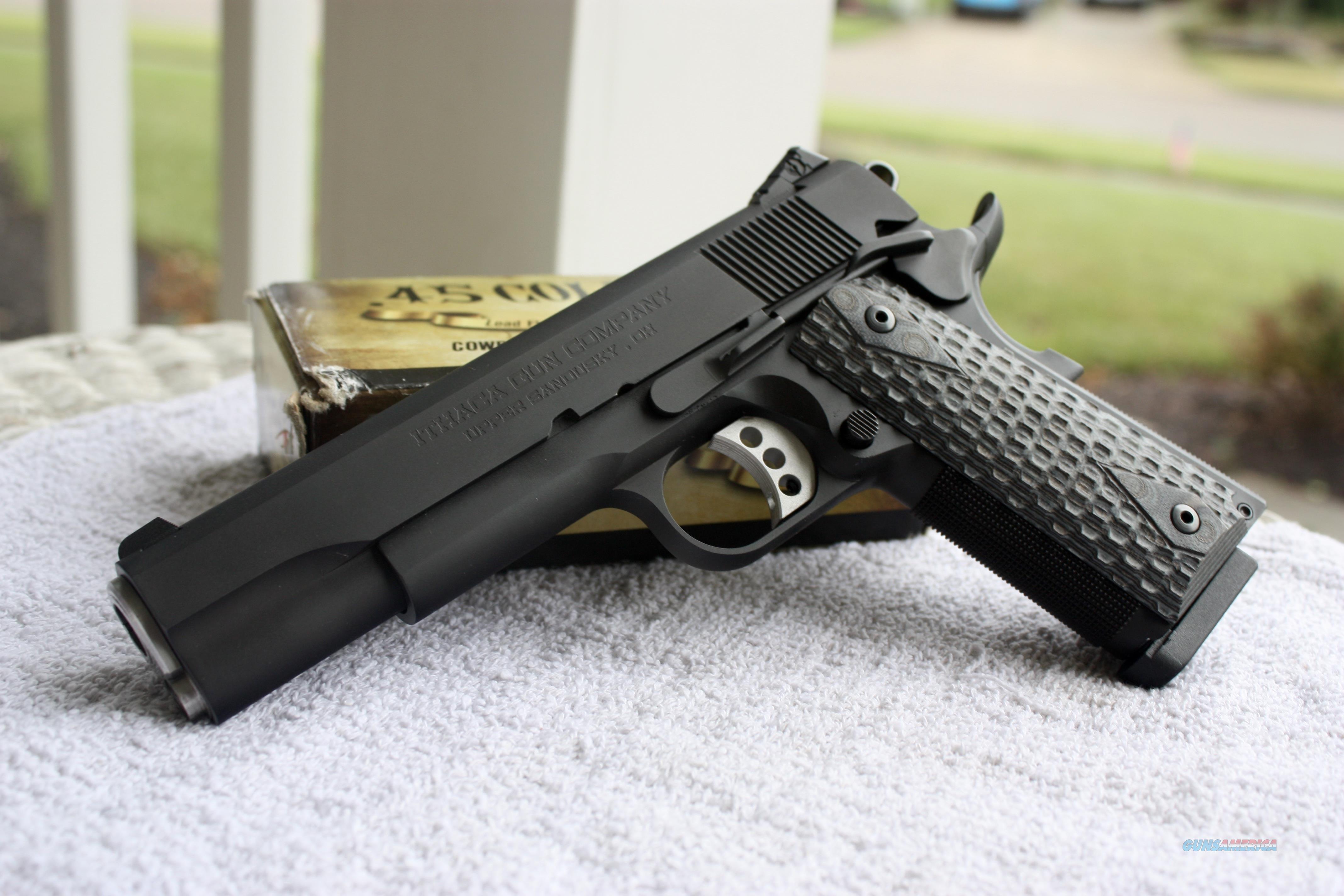Ithaca M1911 .45 ACP Pistol 1911-C45G10A TWO CASES TWO GRIPS NIB  Guns > Pistols > Ithaca Pistols