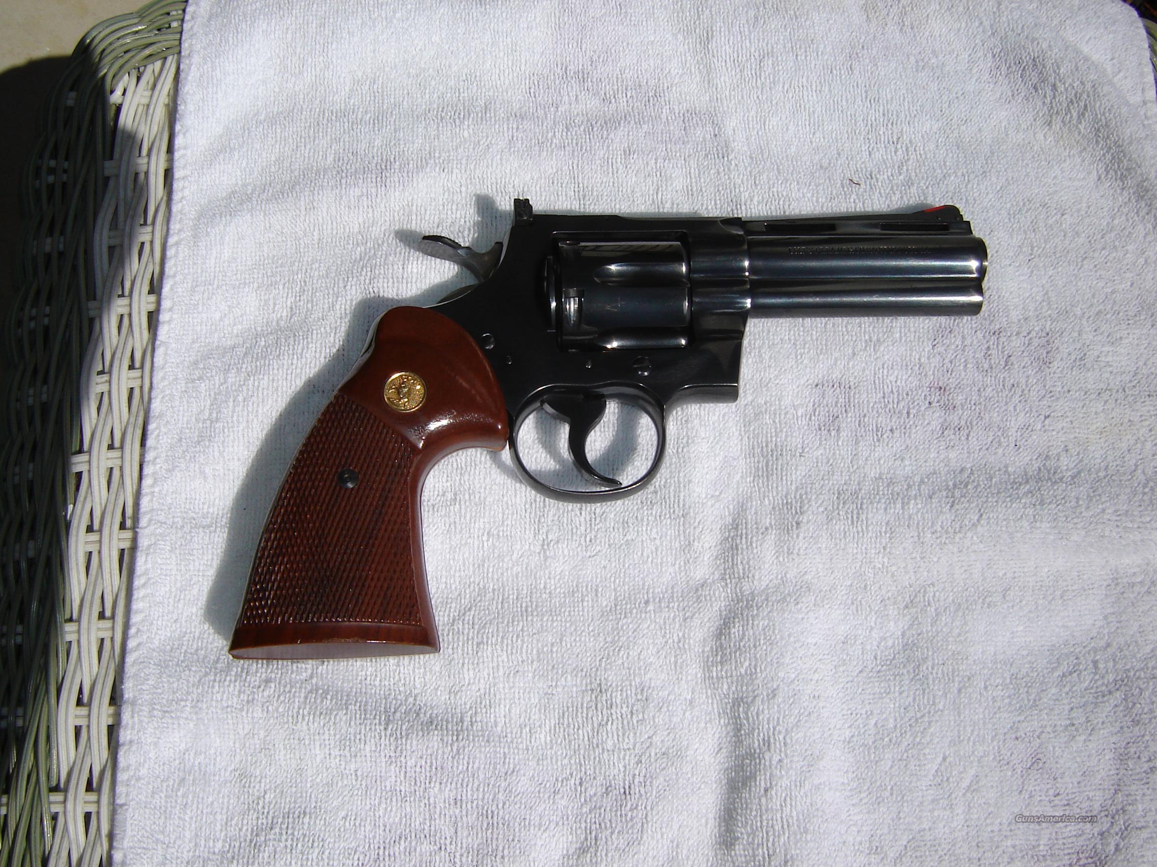 """Colt Python 4"""" Blue  Guns > Pistols > Colt Double Action Revolvers- Modern"""