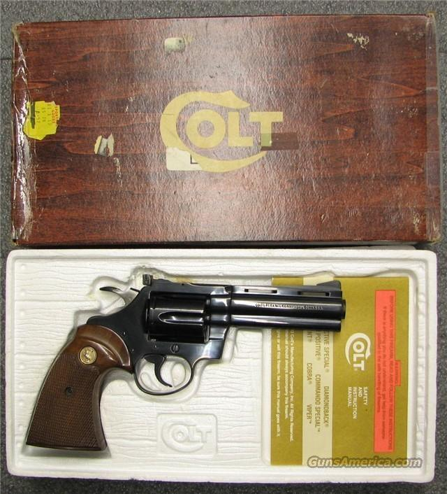 Colt Diamondback .38spl w/Box  Guns > Pistols > Colt Double Action Revolvers- Modern