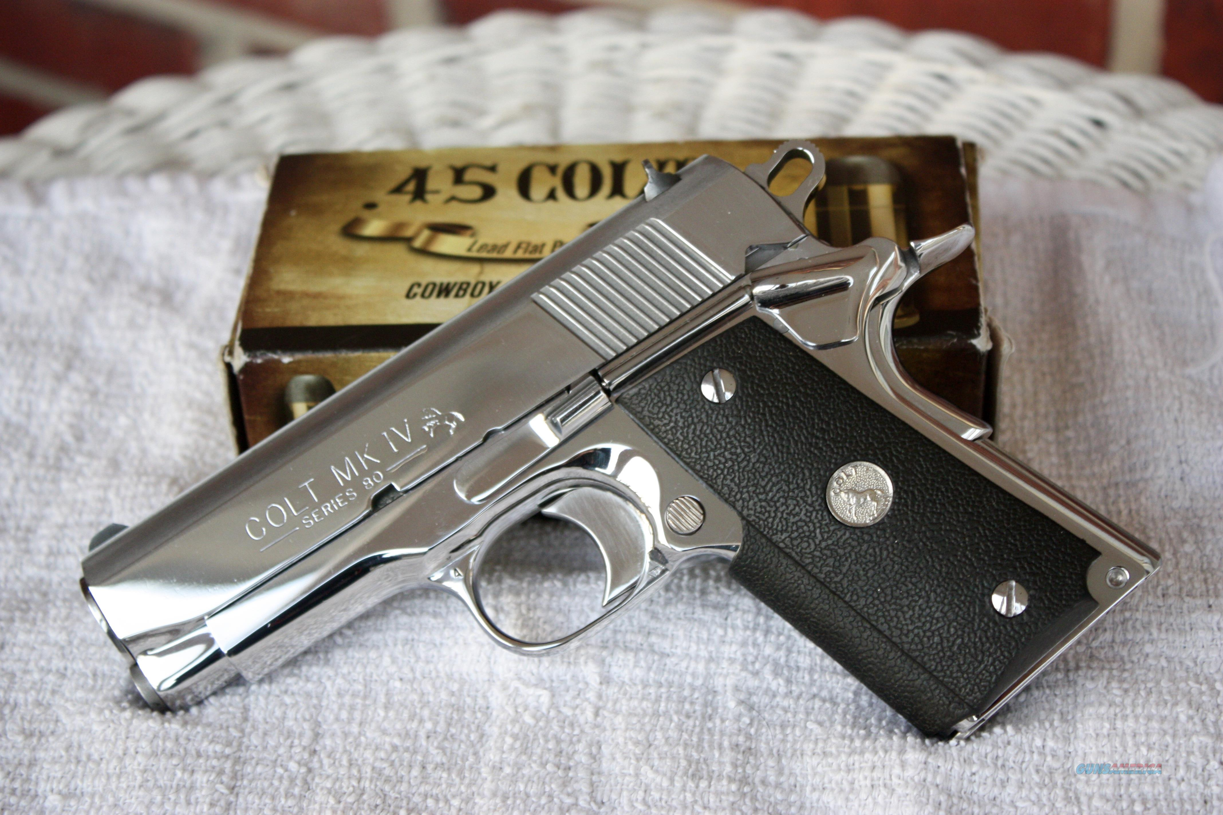 "Colt Officers MK IV .45 ACP Bright Stainless Steel w/original box ""RARE""  Guns > Pistols > Colt Automatic Pistols (1911 & Var)"