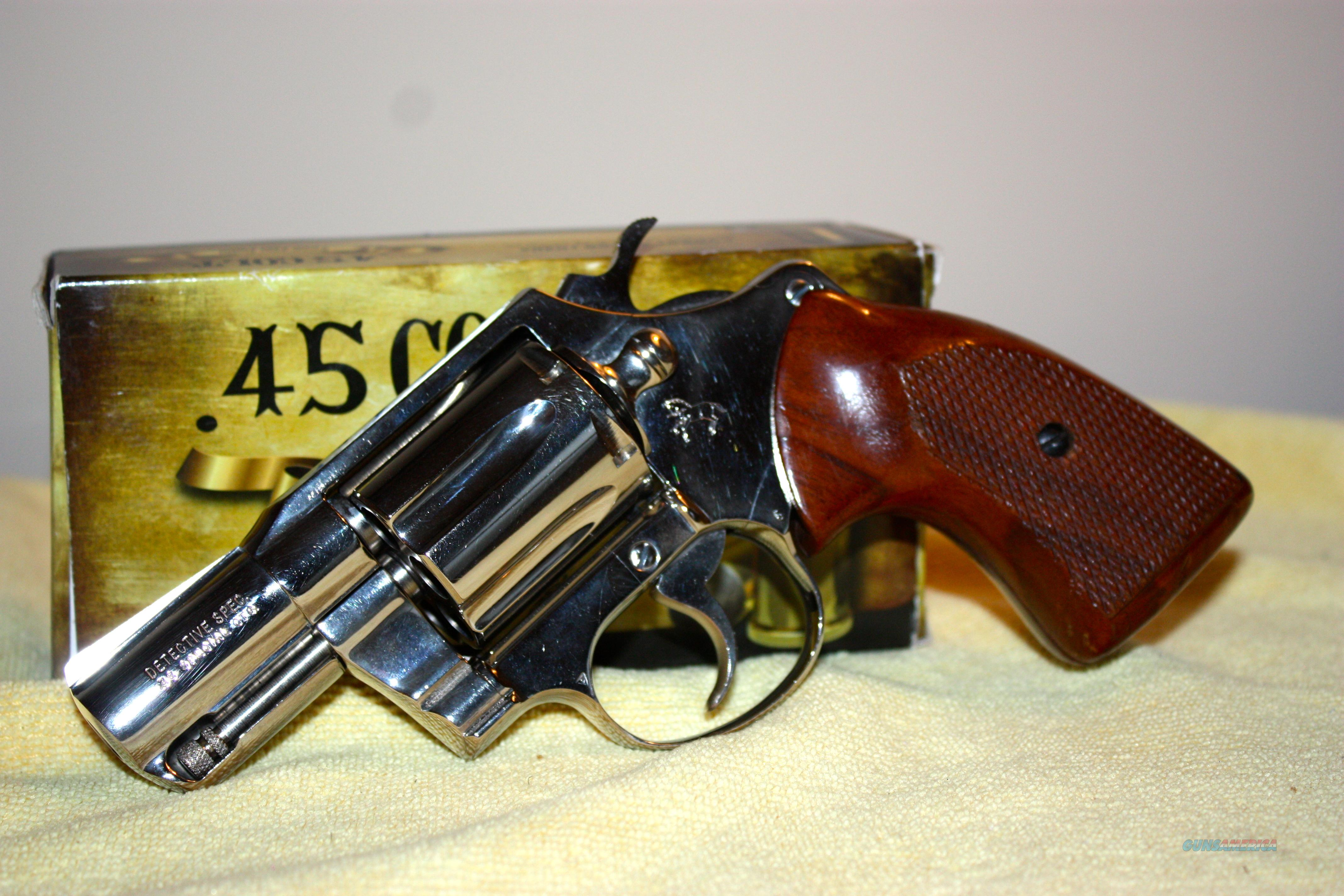 Colt Detective Special .38- NICKEL- NICE!  Guns > Pistols > Colt Double Action Revolvers- Modern