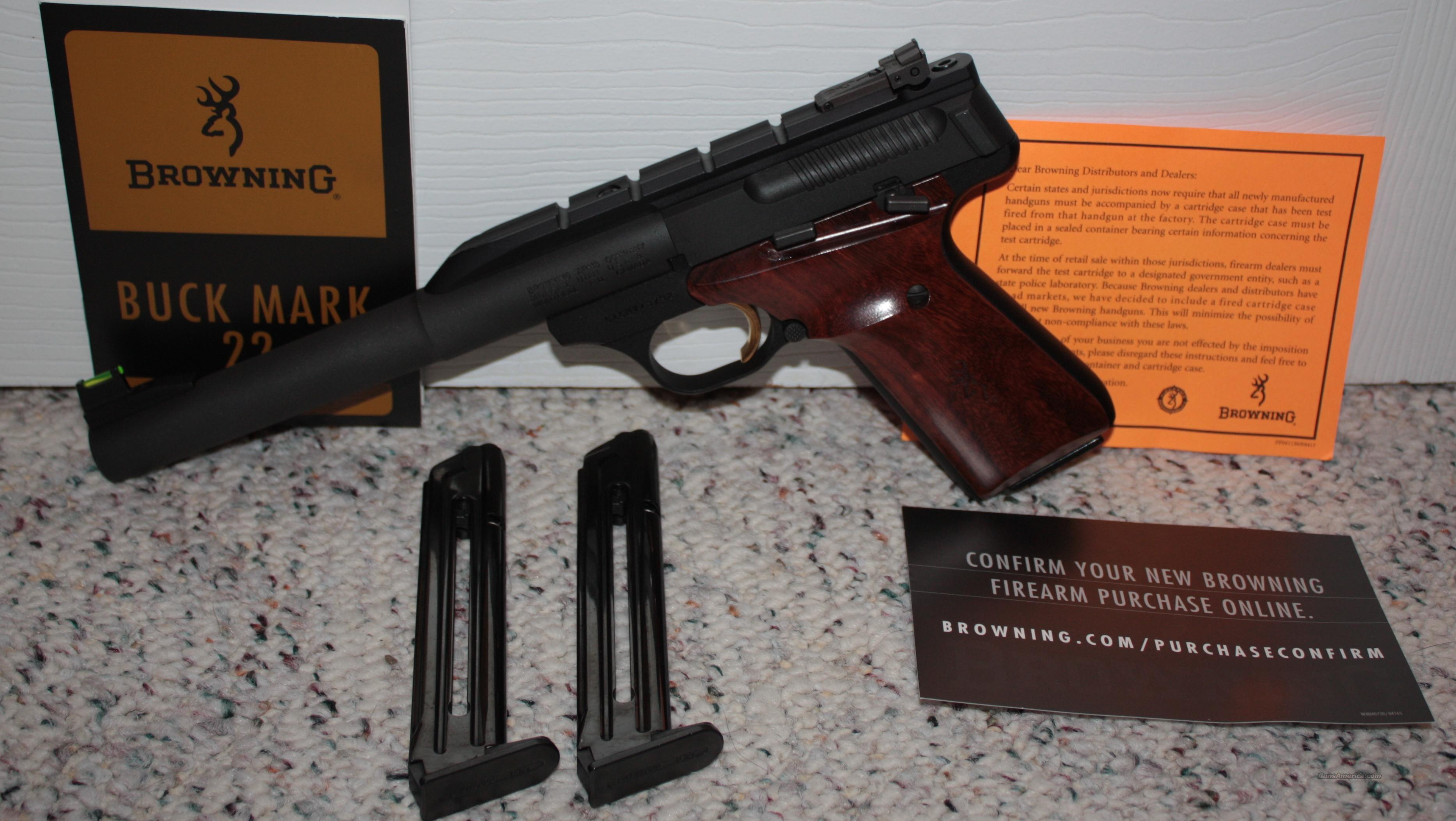 Browning Buckmark Hunter .22LR-PERFECT  Guns > Pistols > Browning Pistols > Buckmark