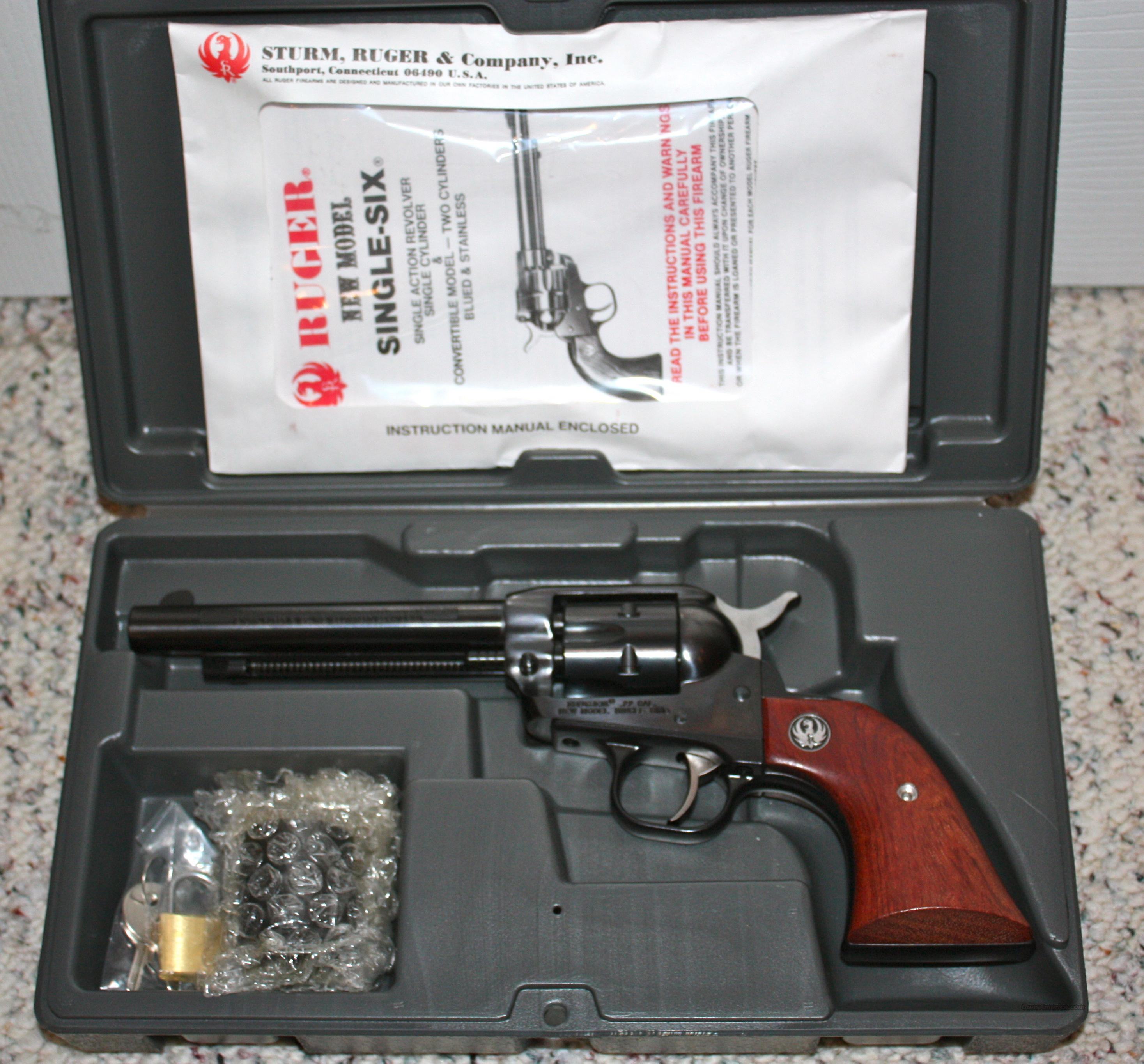 Ruger New Model Single Six .22/.22Mag PERFECT  Guns > Pistols > Ruger Single Action Revolvers > Single Six Type