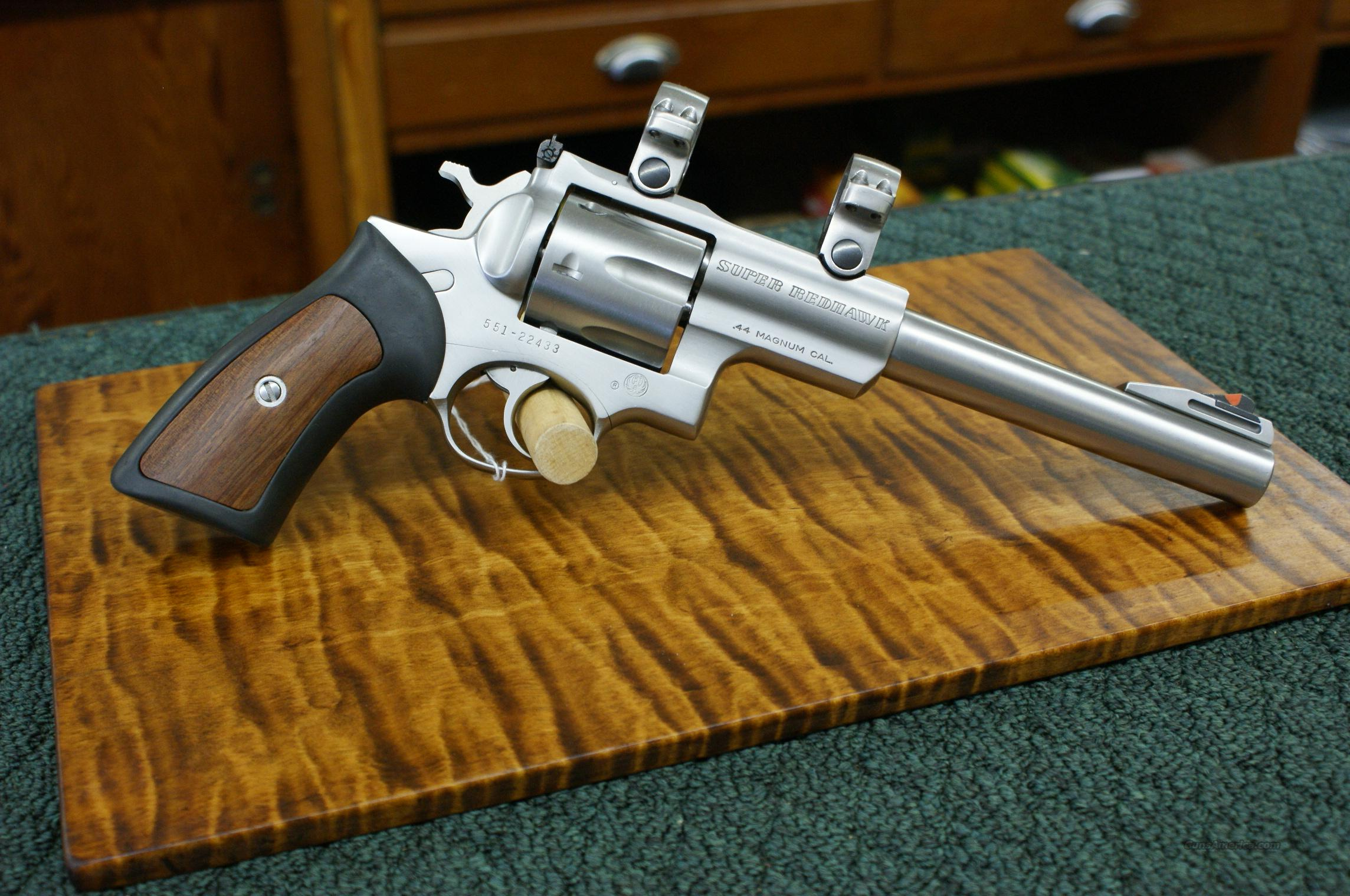 "Ruger Super Redhawk Stainless 7.5""bbl  .44mag  Guns > Pistols > Ruger Double Action Revolver > Redhawk Type"