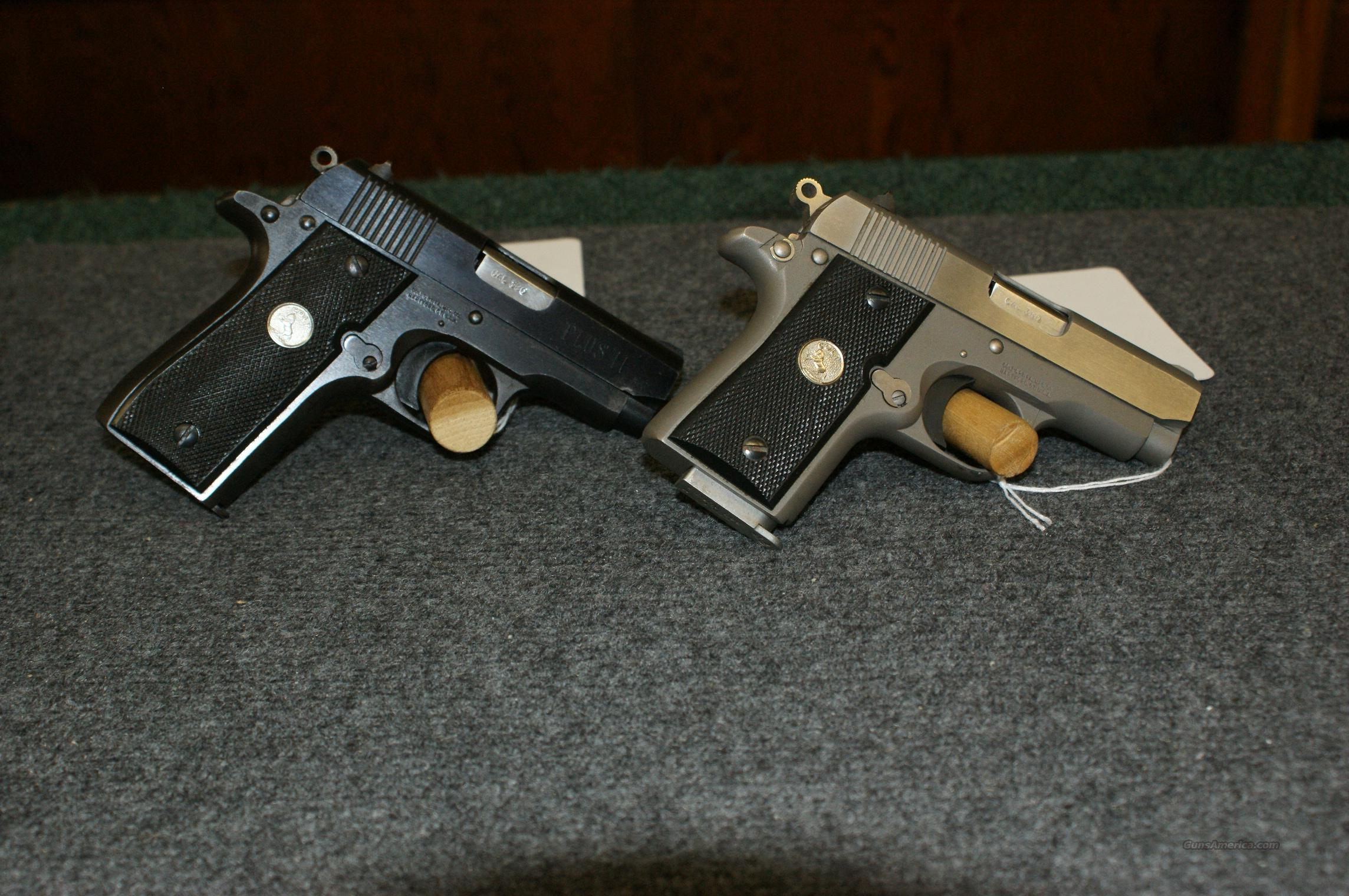 Colt Pair Of Pocket Lites  Guns > Pistols > Colt Automatic Pistols (.25, .32, & .380 cal)