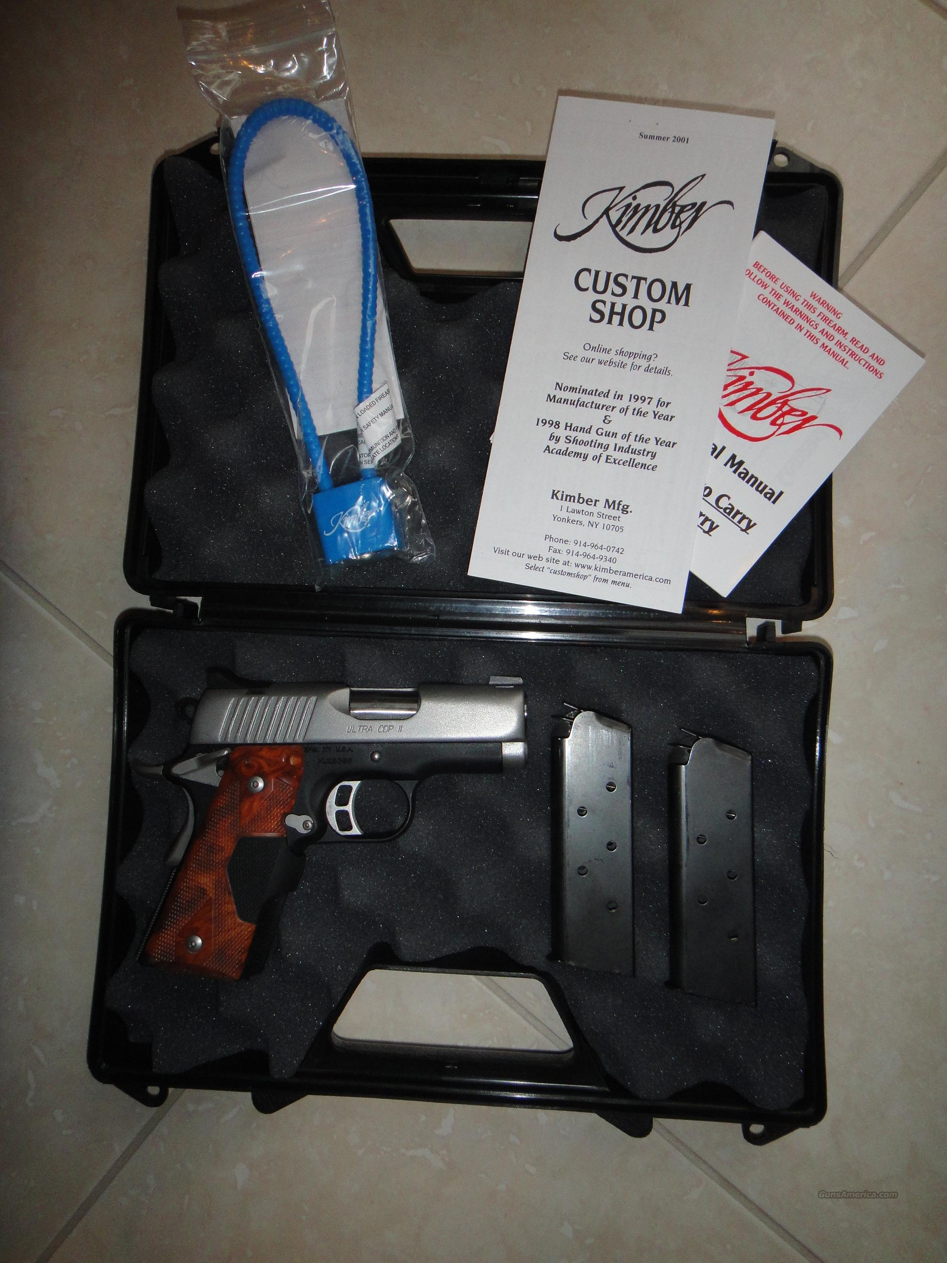KIMBER CDP ULTRA II 45 ACP with CRIMSON TRACE LASER GRIPS  Guns > Pistols > Kimber of America Pistols