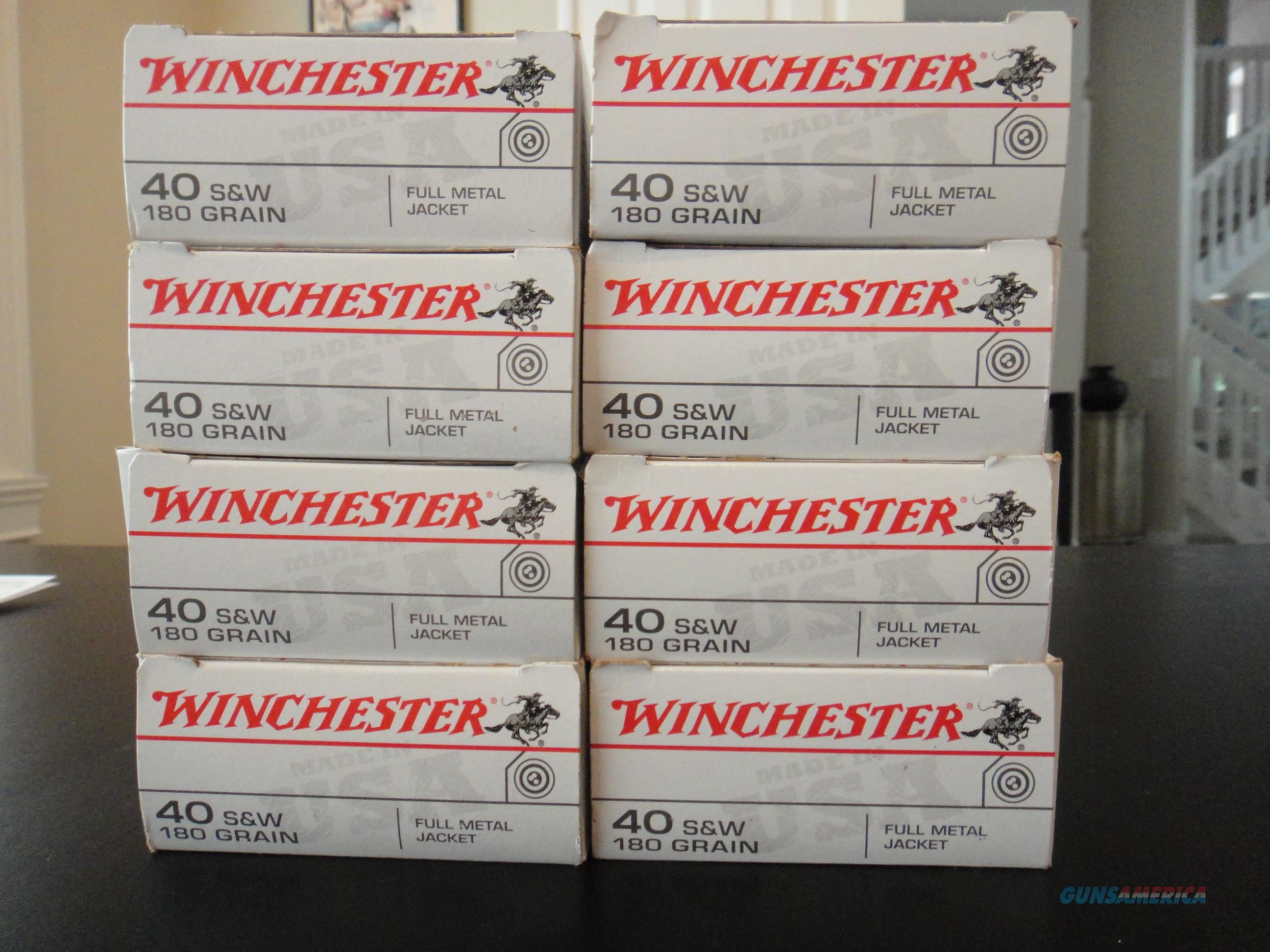 Winchester 40 S&W 180 gr. Full Metal Jacket 400 rounds  Non-Guns > Ammunition
