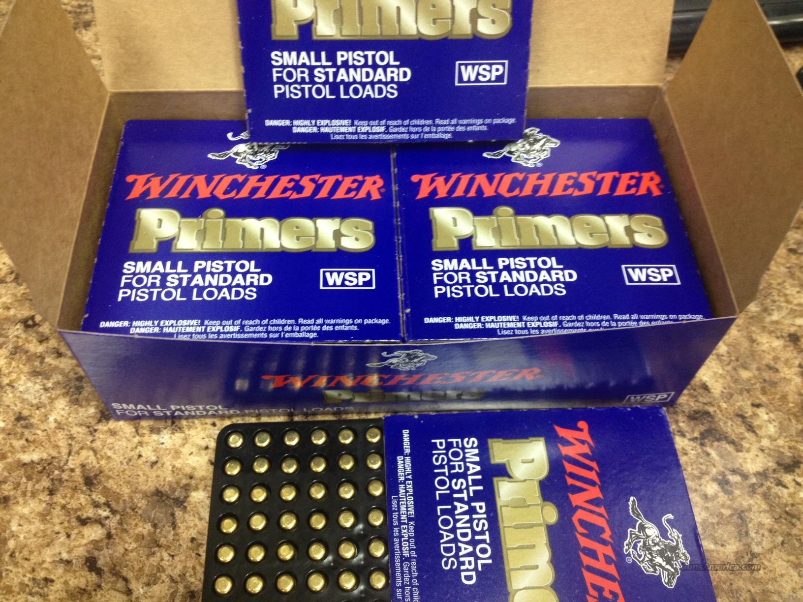 Winchester Small Pistol Primers - 1000 quantity  Non-Guns > Bullet Making Supplies