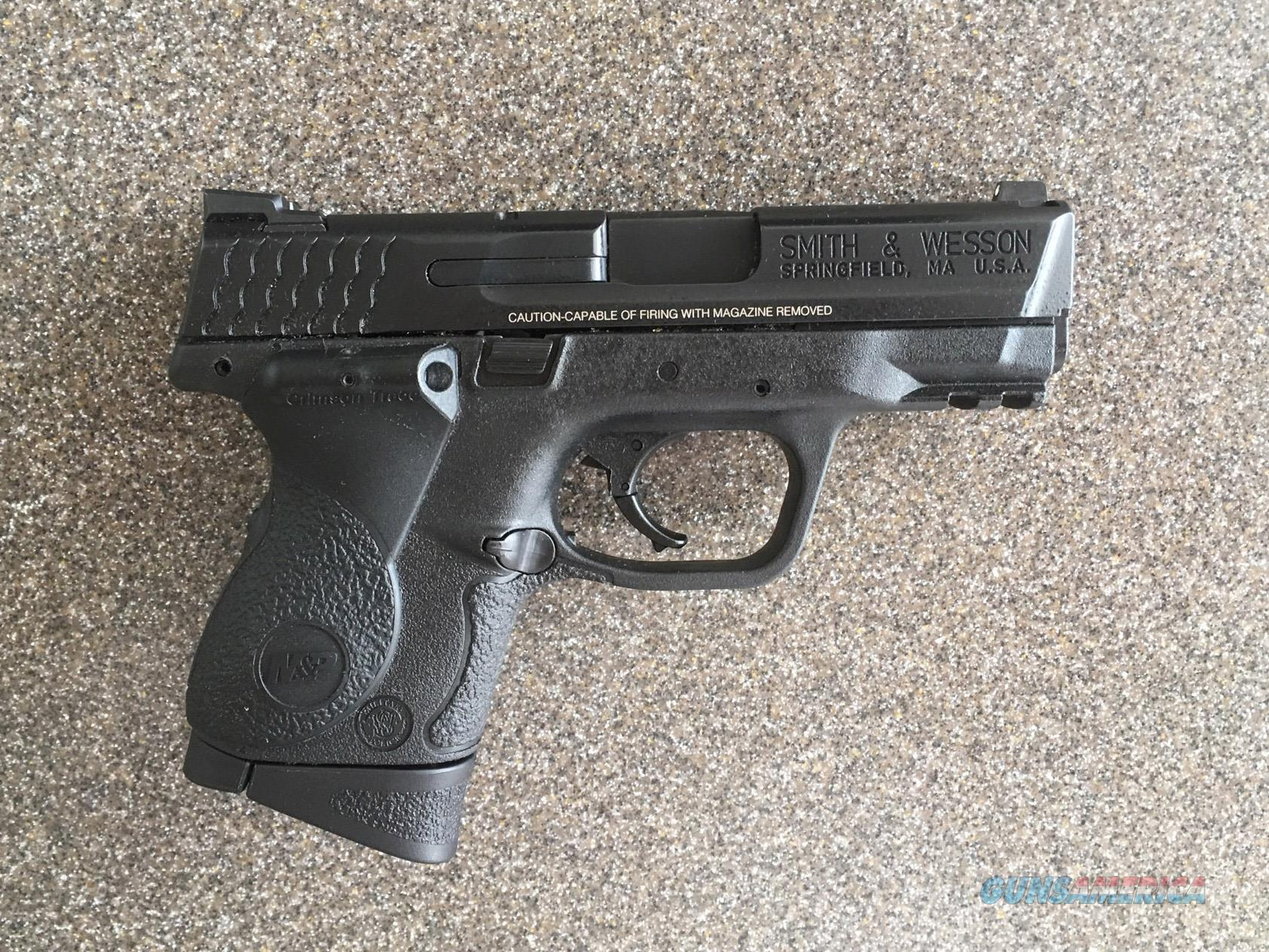SMITH & WESSON M&P9C COMPACT W/CRIMSON TRACE LASER GRIPS  Guns > Pistols > Smith & Wesson Pistols - Autos > Polymer Frame