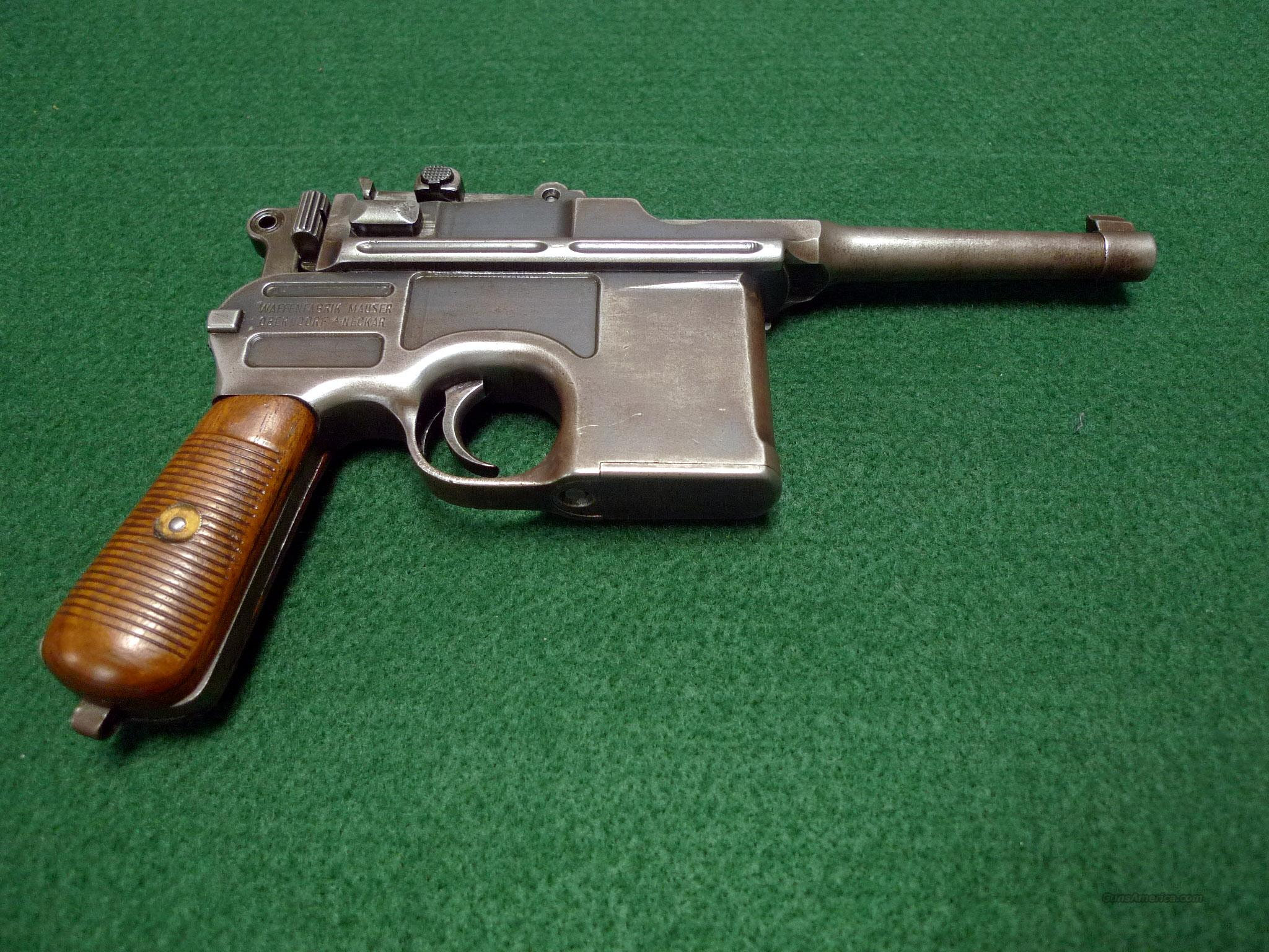 "MAUSER C96 ""BROOMHANDLE"" PISTOL – CHAMBERED IN 7.63X25MM MAUSER  Guns > Pistols > Military Misc. Pistols Non-US"