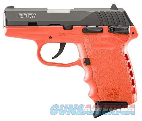 SCCY CPX1-CB PISTOL DAO 9MM 10RD BLACK/ORANGE SAFETY  Guns > Pistols > SCCY Pistols > CPX1