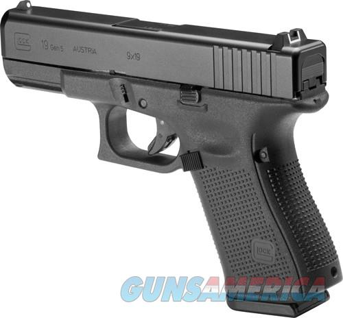 GLOCK 19 GEN5 9MM LUGER FS 15-SHOT BLACK  Guns > Pistols > Glock Pistols > 19