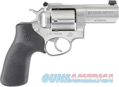 "RUGER GP100 .44SPL 3"" ADJ. STAINLESS HOGUE MONOGRIP *(MOD. 1761  Guns > Pistols > Ruger Double Action Revolver > GP100"