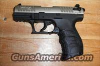 Walther P-22 w/nickel slide, black frame  Guns > Pistols > Walther Pistols > Post WWII > P22