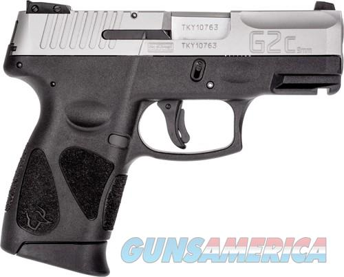 TAURUS G2C 9MM 12-SHOT 3-DOT ADJ. MATTE SS POLYMER  Guns > Pistols > Taurus Pistols > Semi Auto Pistols > Polymer Frame