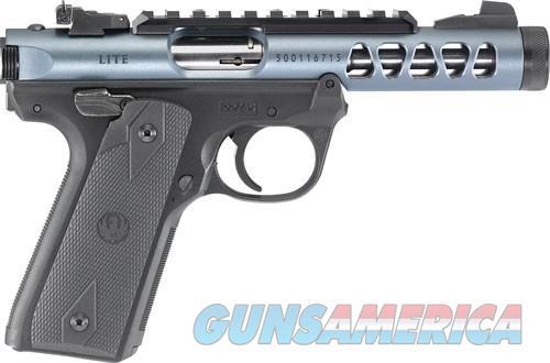 "RUGER MARK IV 22/45 LITE .22LR 4.4"" BULL AS THREADED DMD GRAY  Guns > Pistols > Ruger Semi-Auto Pistols > Mark I/II/III/IV Family"