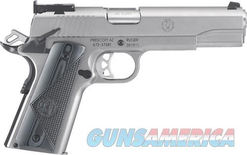 RUGER SR1911 TARGET .45ACP ADJ STAINLESS G10 GRIPS (06736)  Guns > Pistols > Ruger Semi-Auto Pistols > 1911