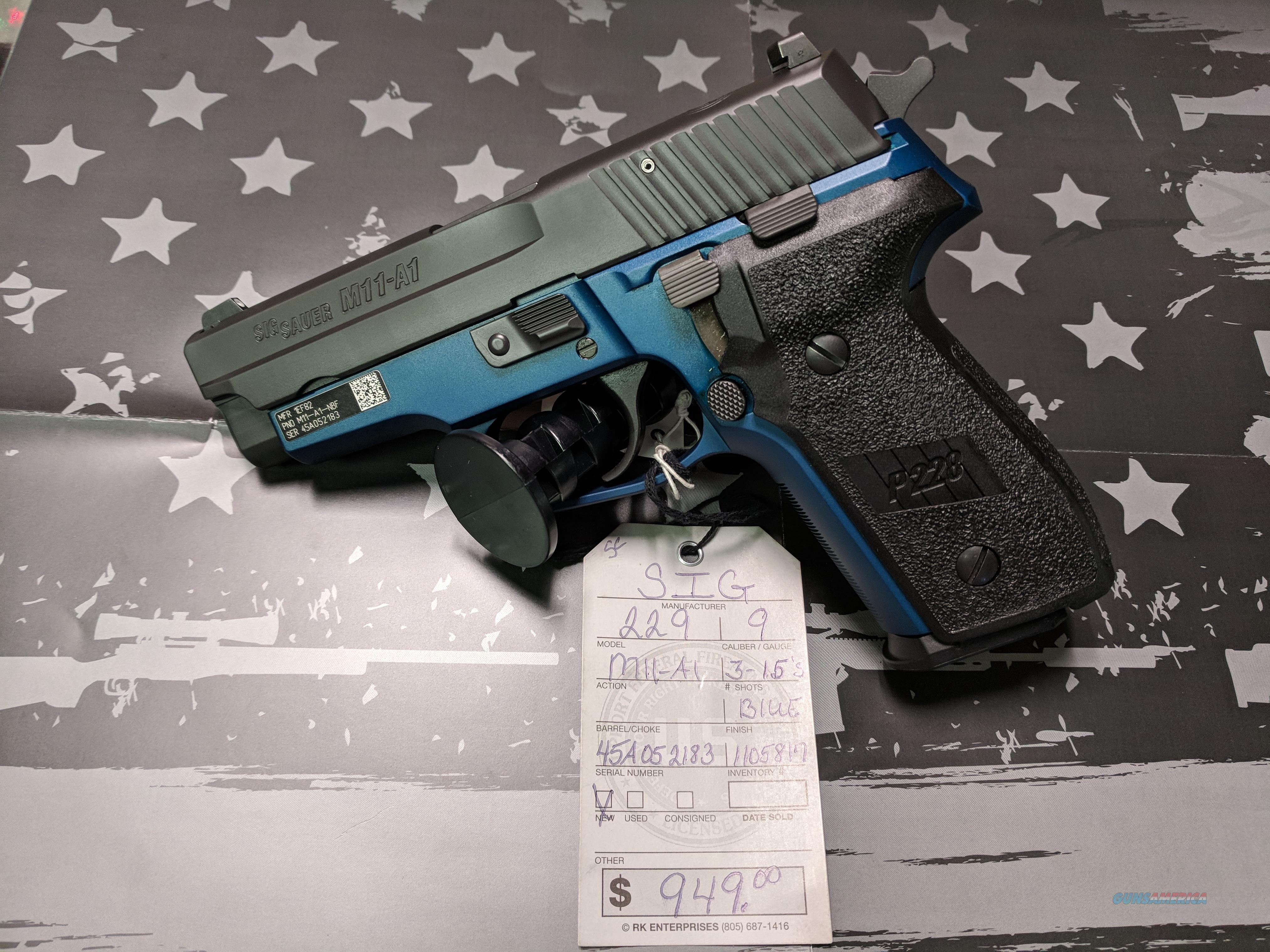SIG 229 M11-A1  9MM W/3-15 MAGS  Guns > Pistols > Sig - Sauer/Sigarms Pistols > P226