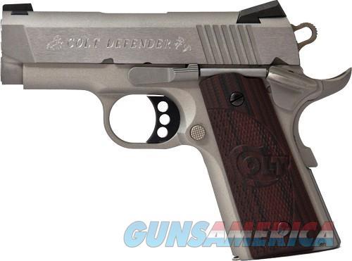 "COLT DEFENDER .45ACP FS 3"" ALLOY/SS G10 BLACK CHERRY  Guns > Pistols > Colt Automatic Pistols (1911 & Var)"