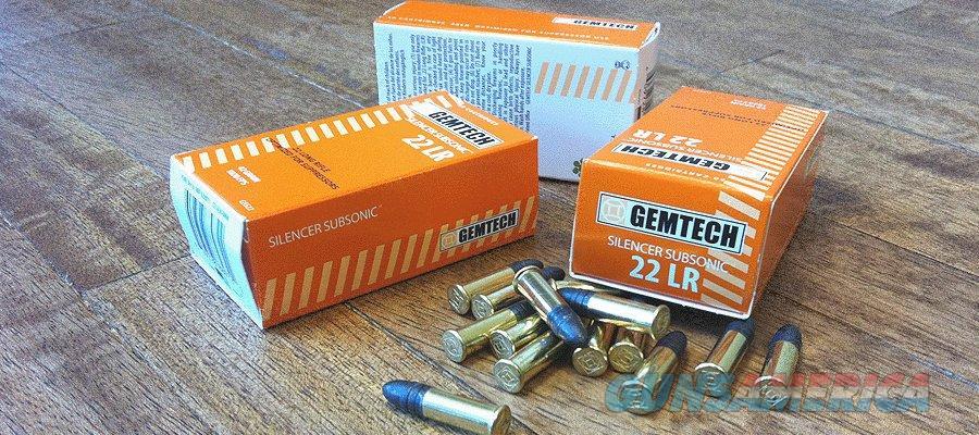 Gemtech 22 lr. Subsonic  Non-Guns > Ammunition