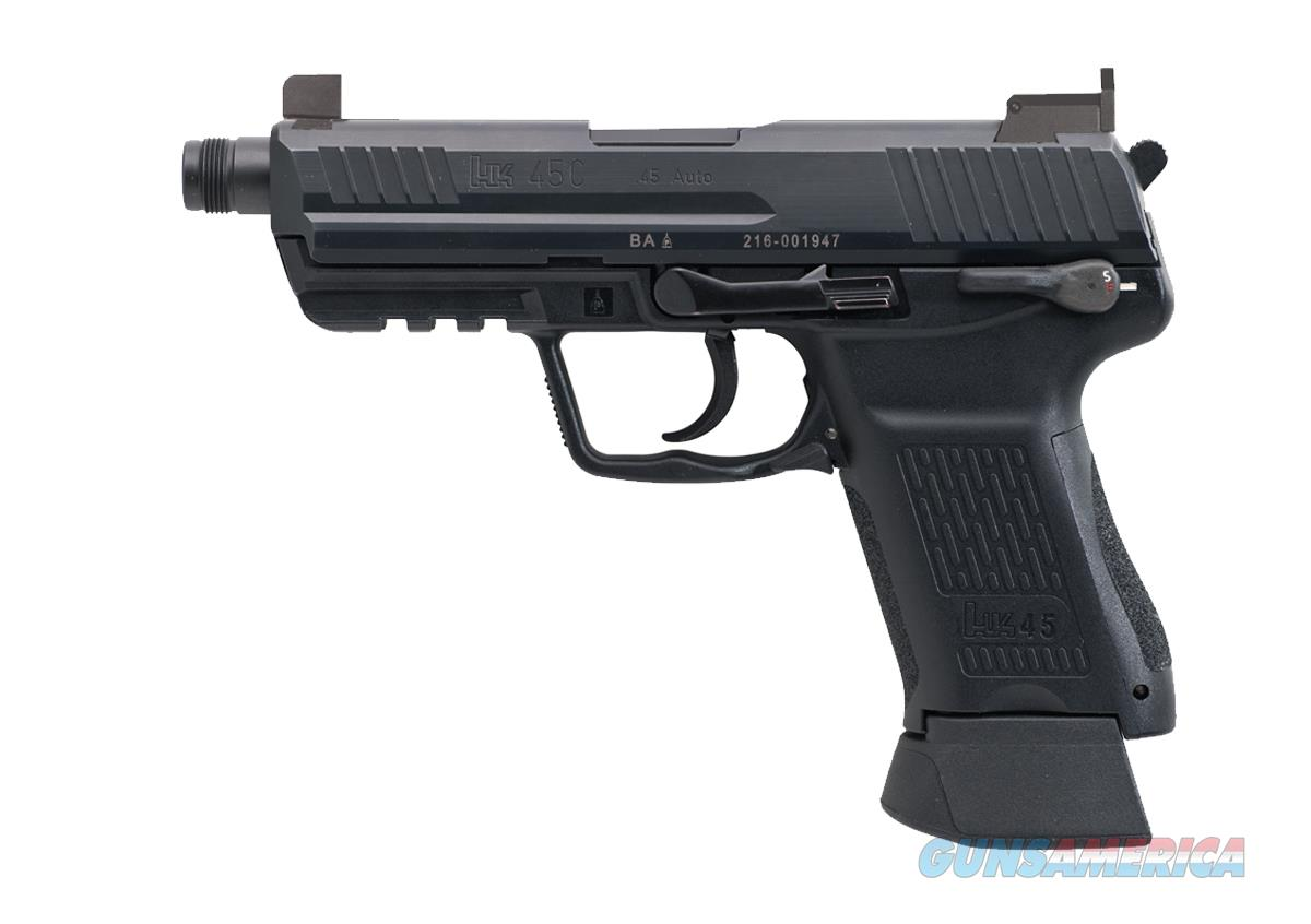 H&K 45CT-V1 W/NIGHT SIGHTS & THREADED BBL. WITH THREAD PROTECTOR & 2-10RD MAGS  Guns > Pistols > Heckler & Koch Pistols > Polymer Frame