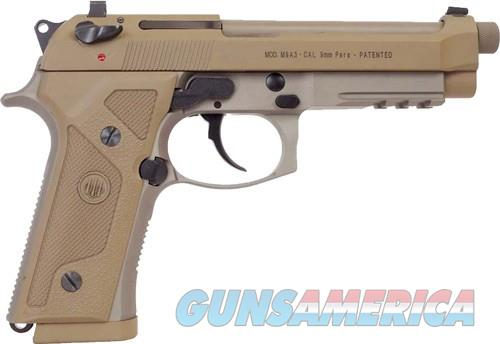 "BERETTA M9A3 FS 9MM 5.2"" NS 17-SHOT THREADED TAN ITALY  Guns > Pistols > Beretta Pistols > M9"