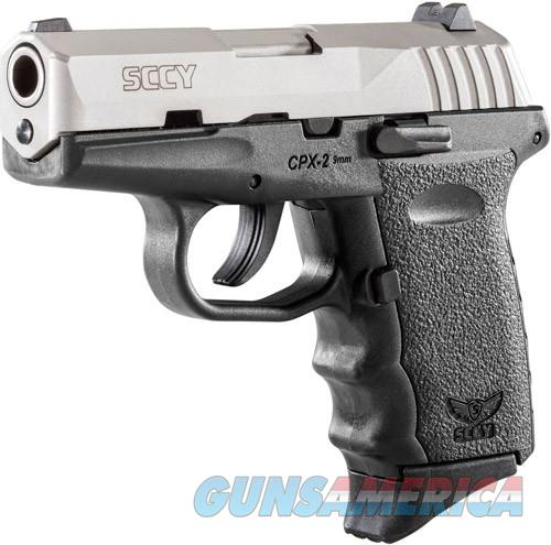SCCY CPX2-TT PISTOL DAO 9MM 10RD SS/BLACK W/O SAFETY  Guns > Pistols > SCCY Pistols > CPX2