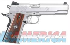 RUGER SR1911 .45ACP FS 8-SHOT STAINLESS WOOD GRIPS (6700)  Guns > Pistols > Ruger Semi-Auto Pistols > 1911
